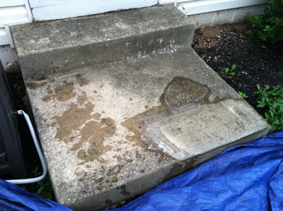 Before Picture - Pressure Washing Concrete