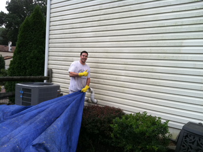 Before Picture - Vinyl Siding Cleaning