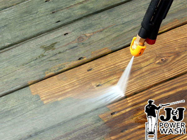 Powerwashing Wood Deck