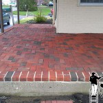 Brick Patio After Pressure Washing