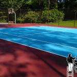 tennis courts after