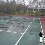 Philadelphia Tennis Courts Powerwashing