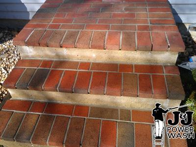 Powerwashing Brick After Photos