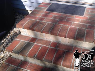 Powerwashing Brick