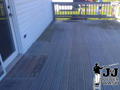 Composite Deck before Pressure Washing