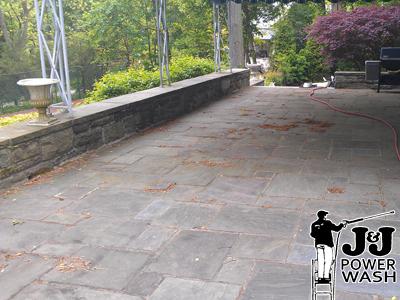 Powerwashing Stone Patio