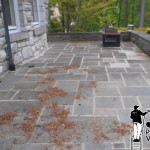Power Washing Stone Patio