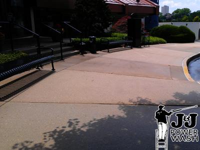 Powerwashing Sidewalks