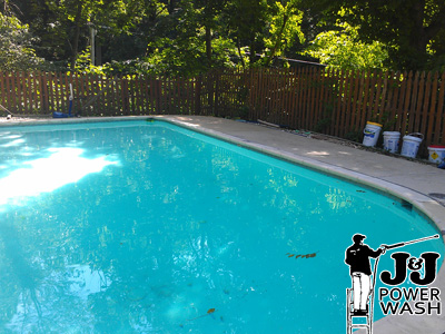 pool powerwashing