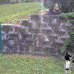 retaining wall powerwashing