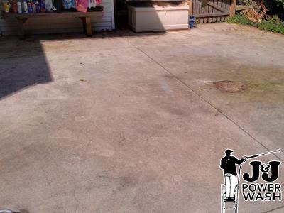 concrete patio pressure washing