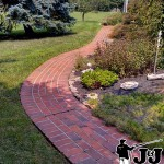 Brick Walkway Power Wash