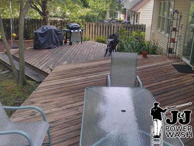 Wood Deck Pressure Wash