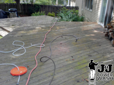 Wood Deck Pressure Washing