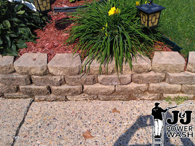 Retaining Wall Pressure Wash