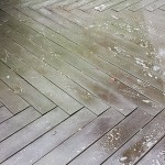 Composite Deck Before Cleaning