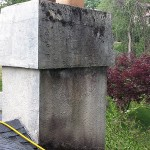 Stucco Chimney Before