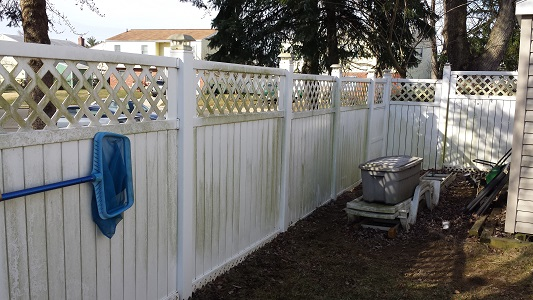 Bensalem Vinyl Fence Before