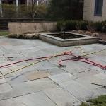 Flagstone Patio Before Powerwashing