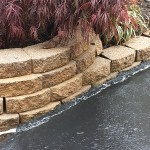 Retaining Wall After Pressure Washing