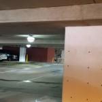 parking garage after pressure washing