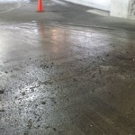 parking garage before cleaning