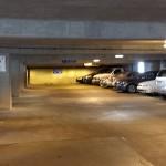 parking garage after powerwashing