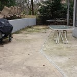 Concrete Patio Before Cleaning