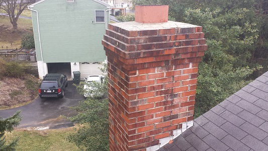 Downingtown Chimney Before