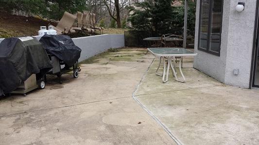 Villanova Concrete Patio Before