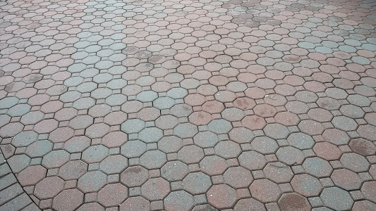 Brick Patio After Cleaning
