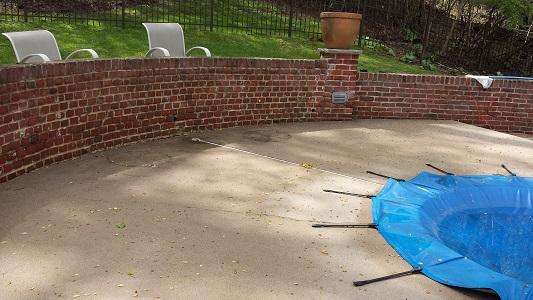 Pool Deck Before