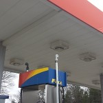 Gas Station Pressure Washing Before