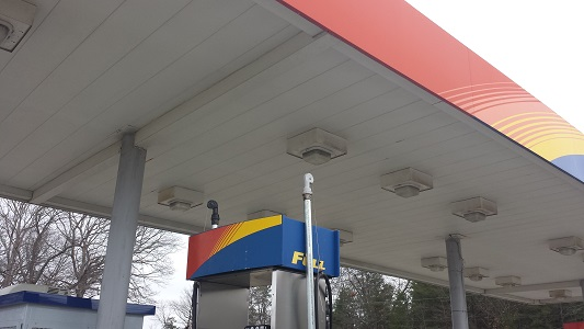 Gas Station Before Cleaning
