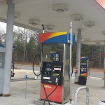 Gas Station Power Washing Before