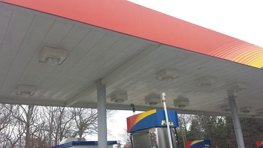Gas Station After Cleaning