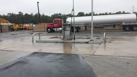 Gas Station Before Pressure Washing