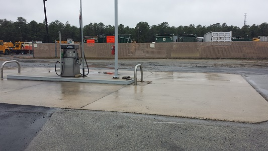 Gas Station After Pressure Washing