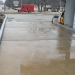 Gas Station Powerwashing After