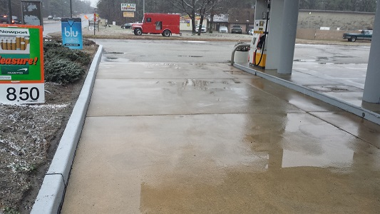 Gas Station After Power Washing