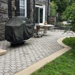 brick patio after pressure washing