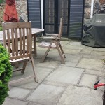 Flagstone Patio Before Cleaning