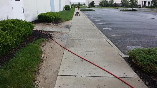 Sidewalk Gum Removal Before