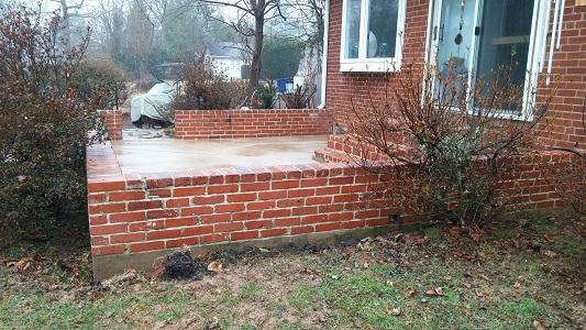Brick Patio After