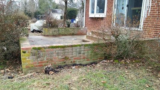 Brick Patio Before
