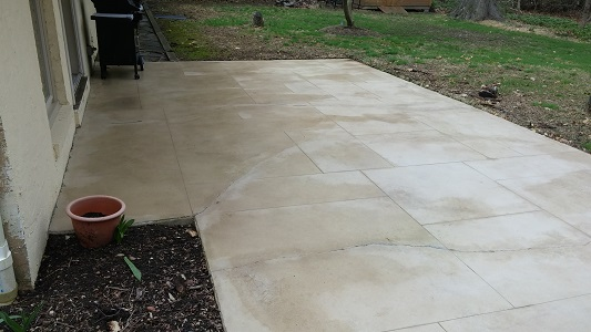 Stone Patio After