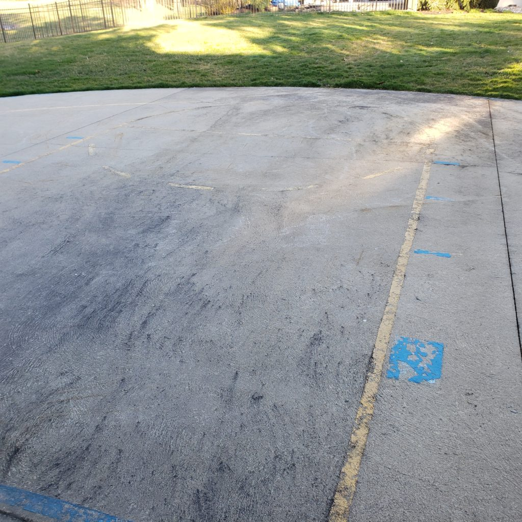 Cleaning Basketball Court
